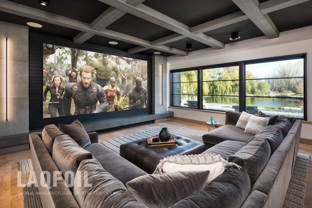 Acoustic Matt Stretch Ceiling in Black Colour