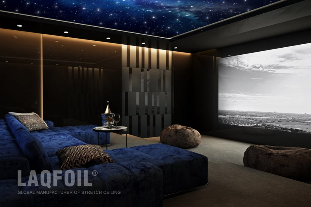 Starry Sky Stretch Ceiling With Custom Printed Graphic