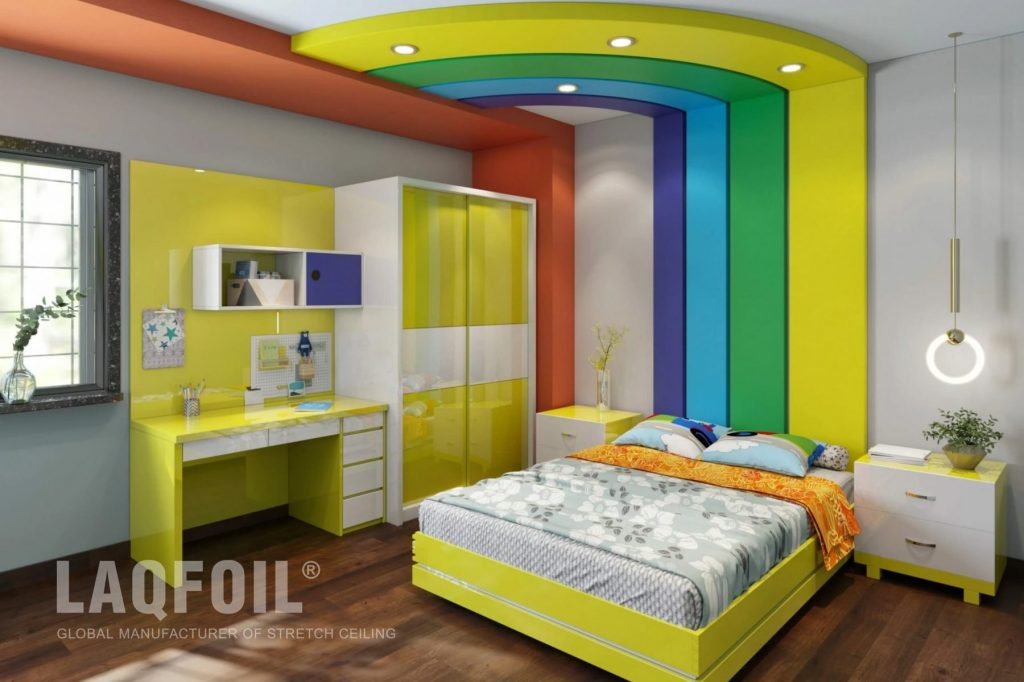 Colourful Multilevel Ceilings And Walls
