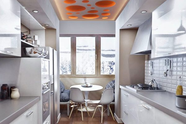 backlit perforated ceiling in amazing custom kitchen