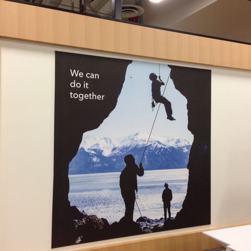 we can do it togther custom wall mural