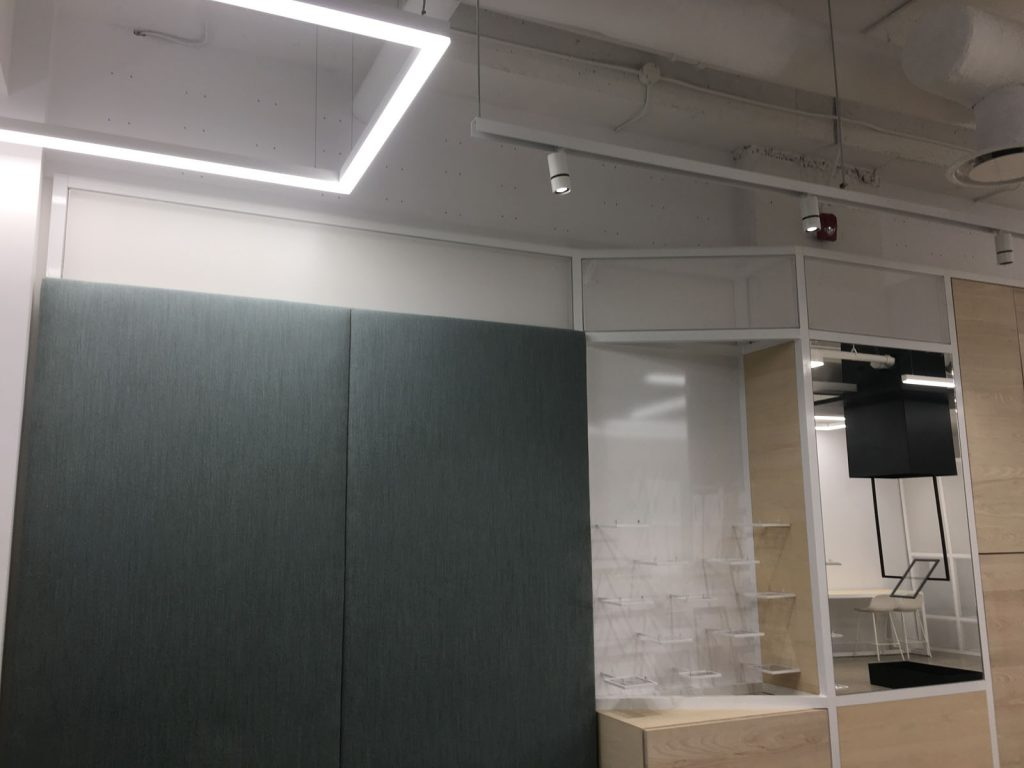 Linear Lights Ceiling in open space office peterborough