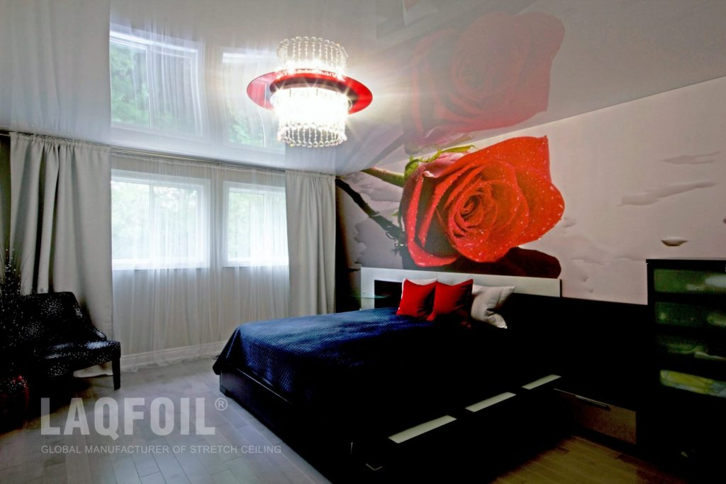 Custom Printed Wall Mural With Reflective Ceiling