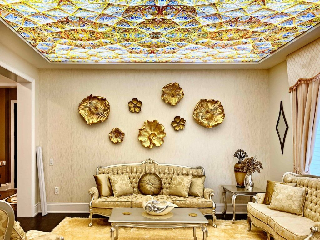 Backlit Printed Ceiling by Laqfoil