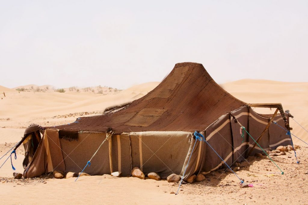 desert tent made from stretch fabric