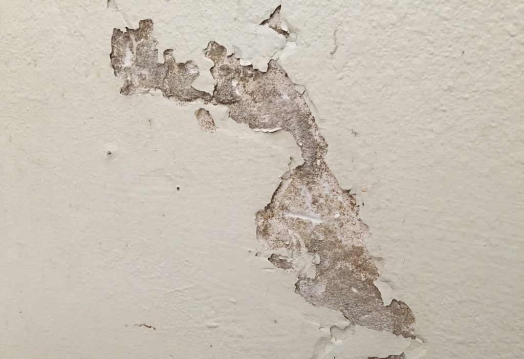damaged drywall cover with stretch ceiling