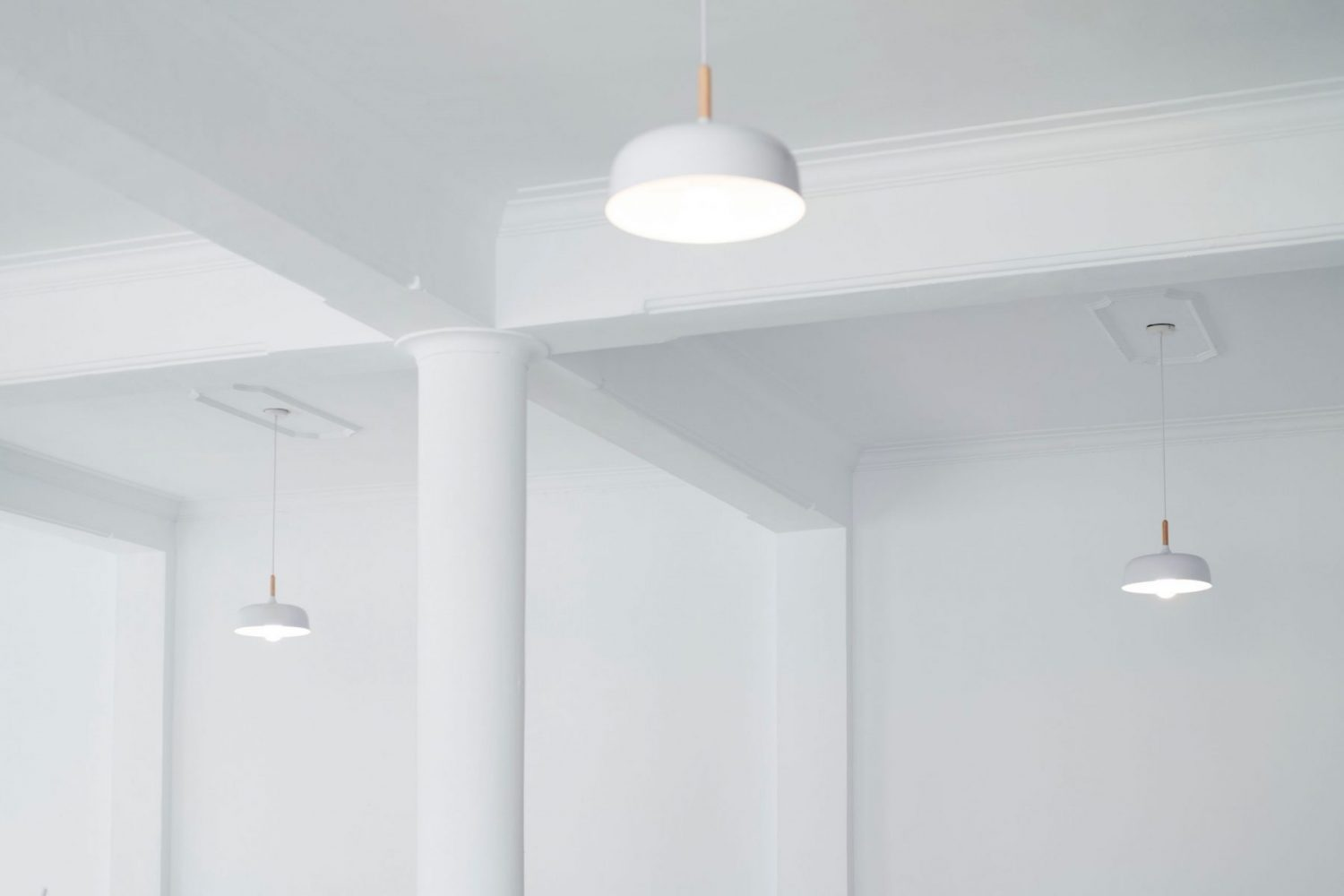 white simple ceiling with Limited Design solution is stretch ceiling