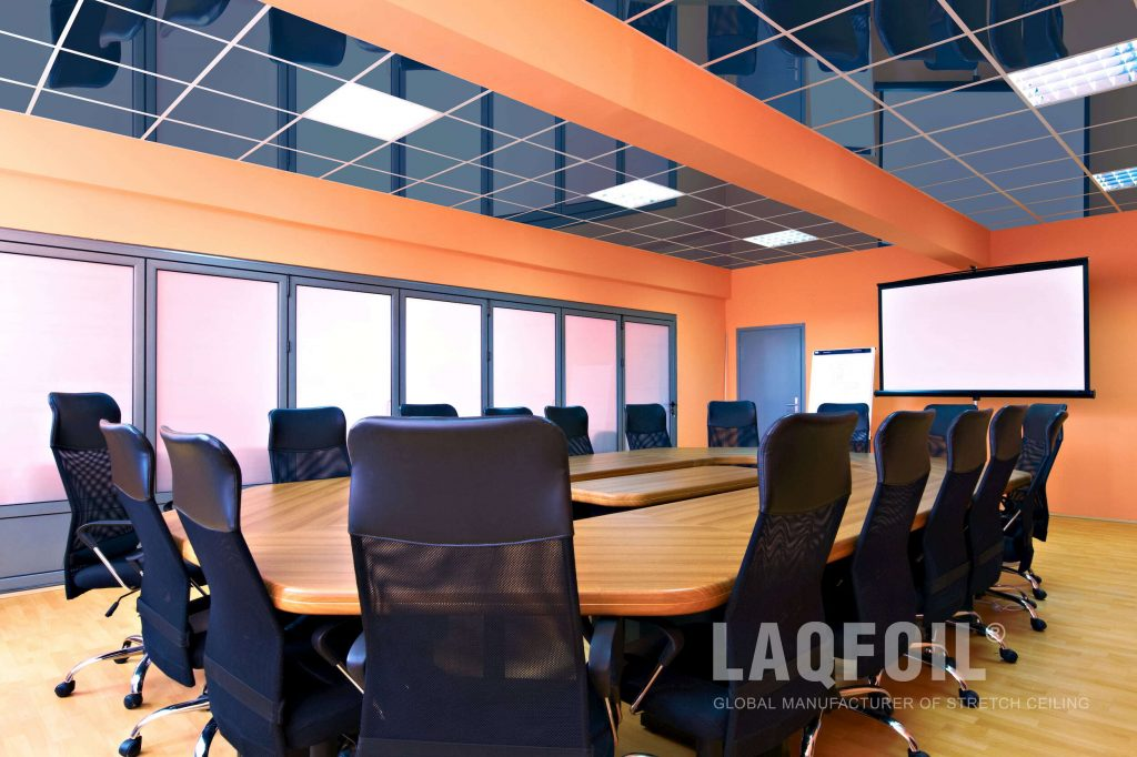 custom office with high gloss ceiling tiles