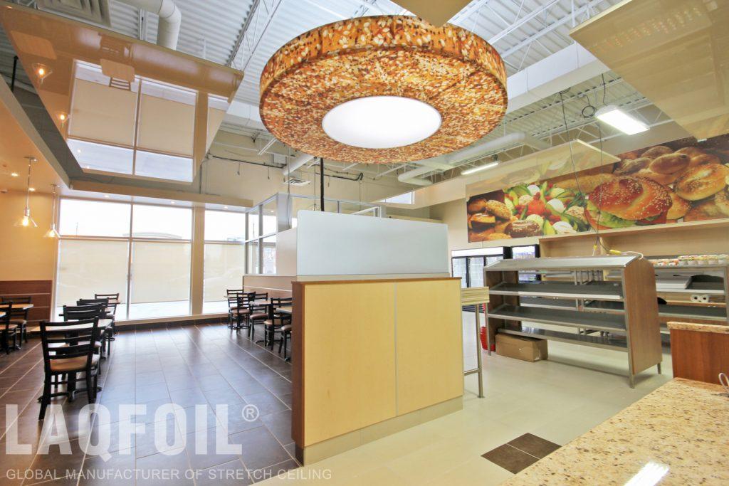 Bagel Nash Restaurant new ceiling