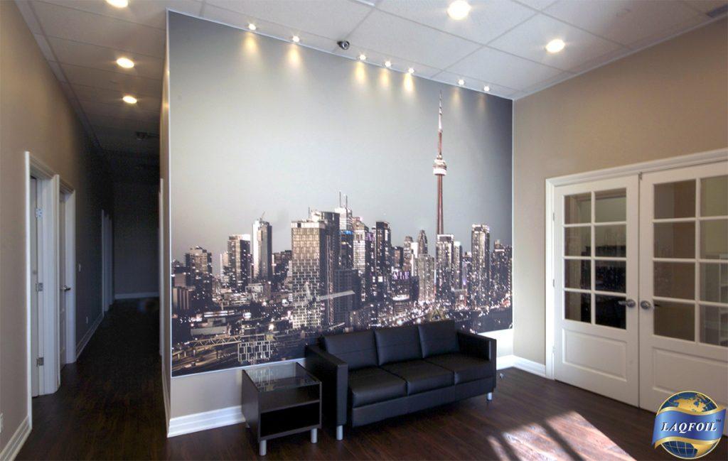 Home Life Brokerage printed wall