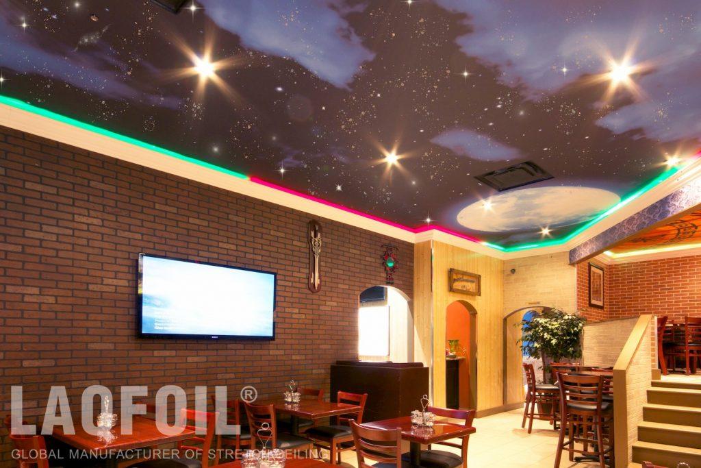 Kabul-Tehran Restaurant printed ceiling 5
