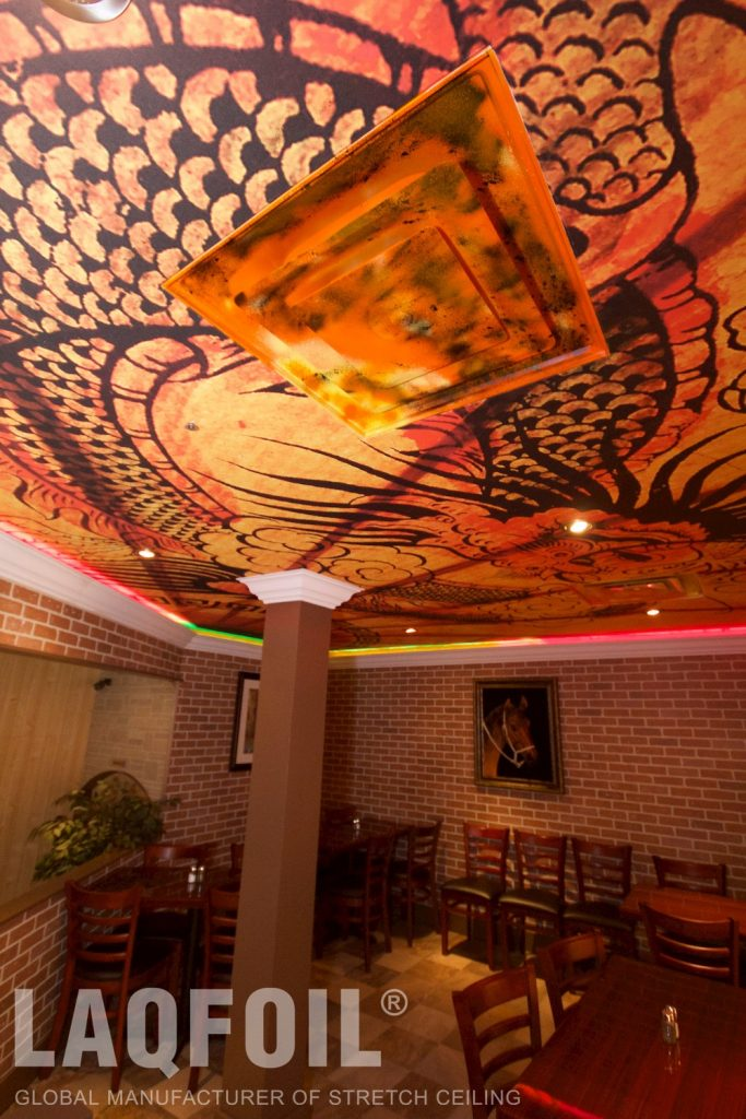 Kabul-Tehran Restaurant printed ceiling 7