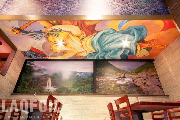 amazing wall mural in custom restaurants