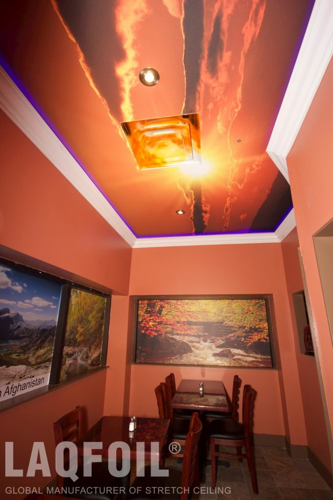 Kabul-Tehran Restaurant printed ceiling 6