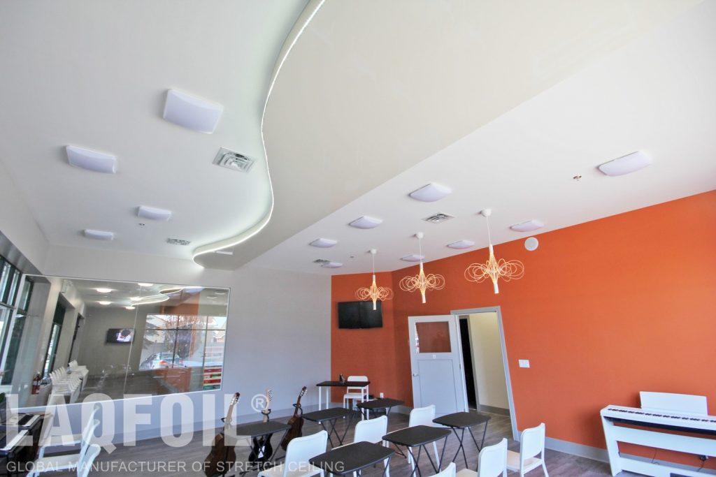 Music School of Wonder multileveled ceilings