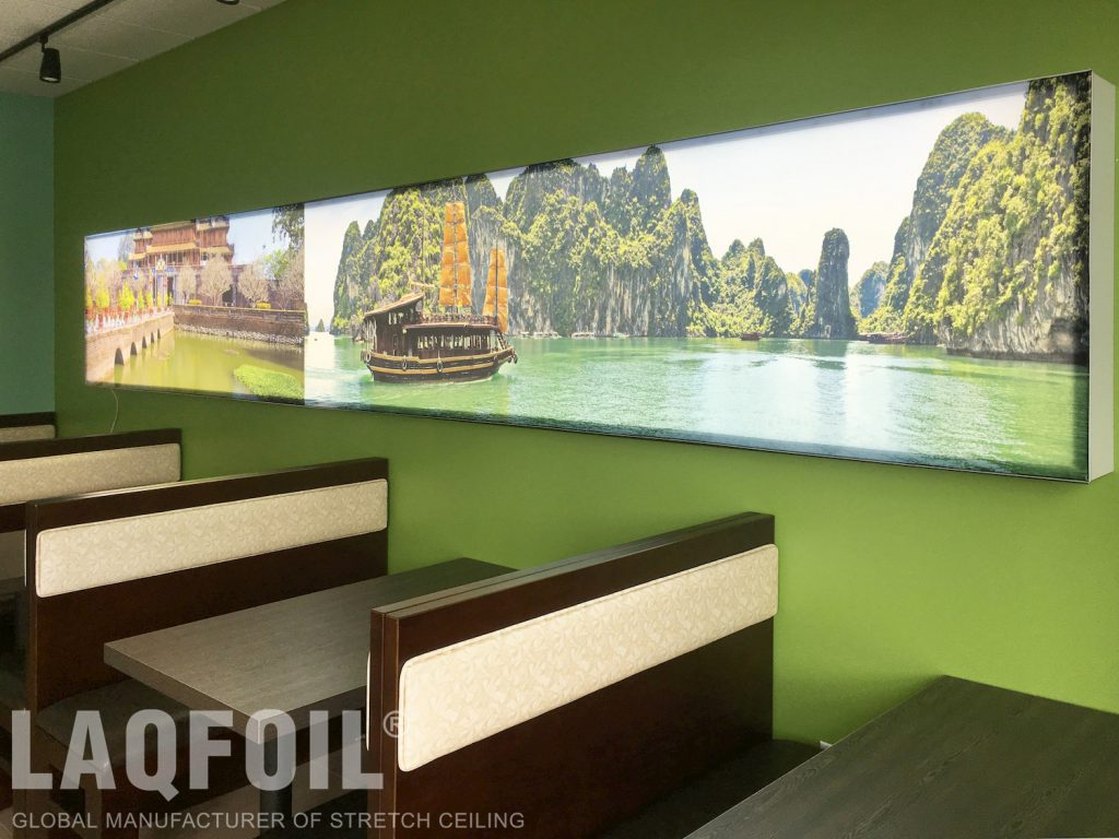 Pho Saigon Restaurant printed walls