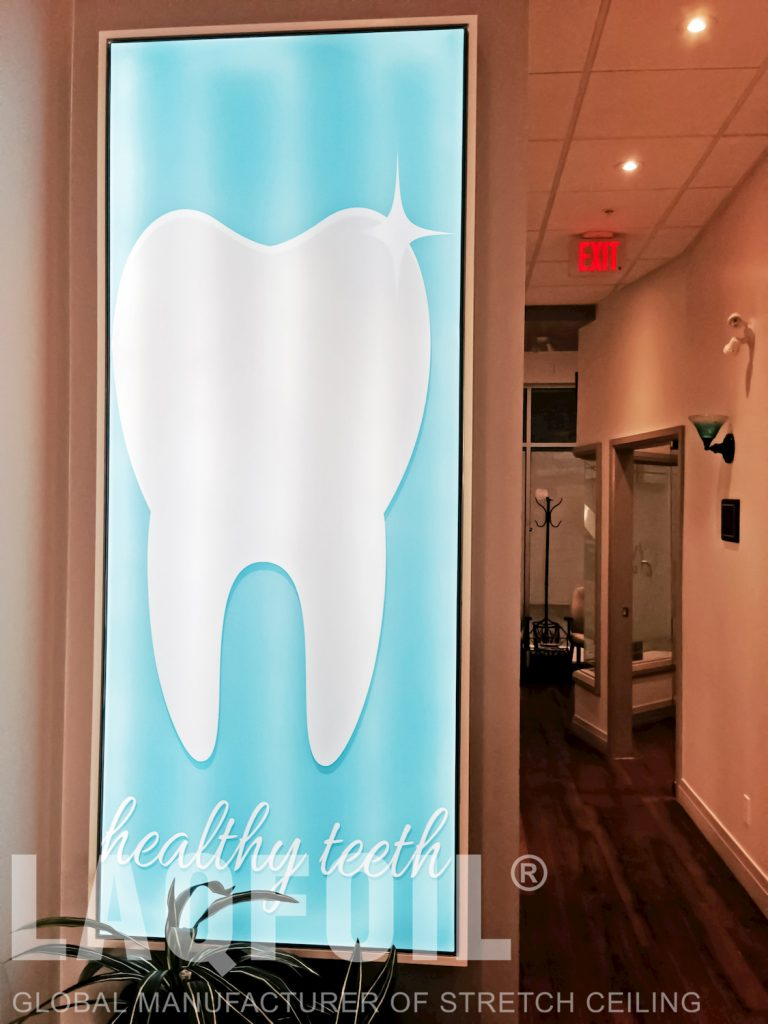 World Dental Office backlit logo