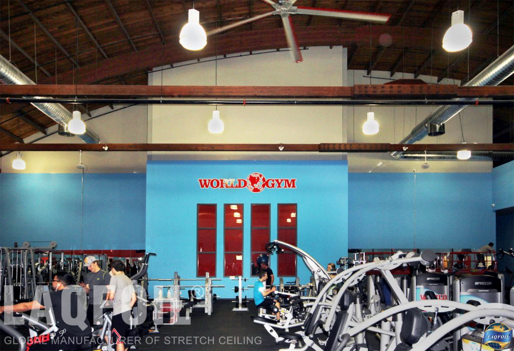 World Gym Fitness. Waterloo wall covering