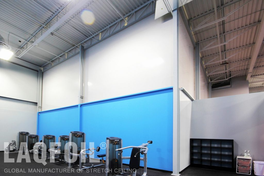 World Gym Fitness. Waterloo reflective wall covering