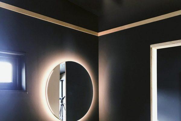 Linear Lights Ceilings in bathroom